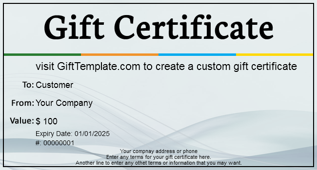 Gift Certificate Templates | Free gift certificate template for any ...